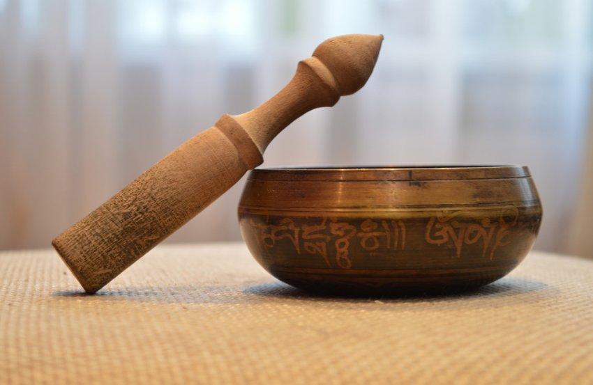 В буддийской медитации гонг